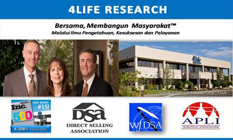 perusahaan riset 4Life