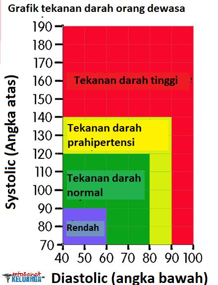 Grafik tekanan darah normal
