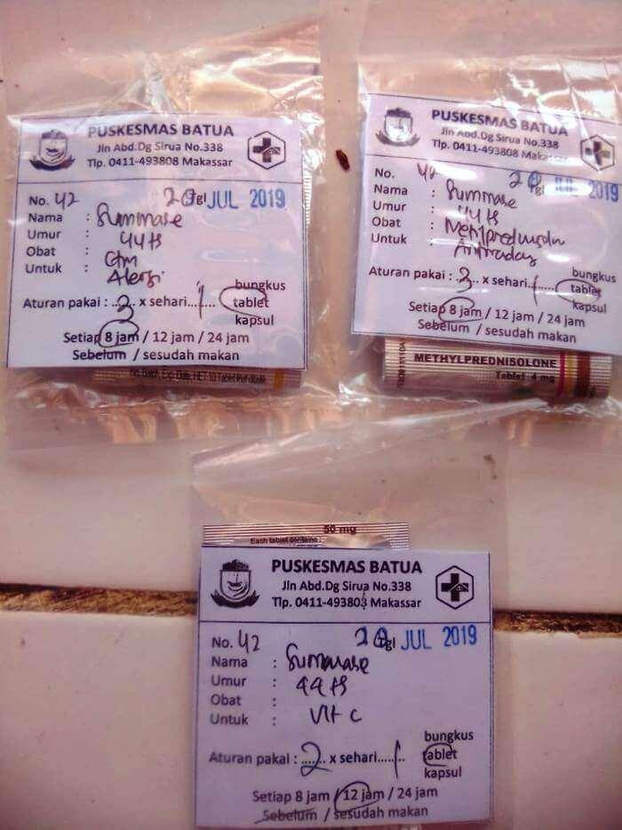 Kombinasi Obat Chlorphenamine Maleate Methylprednisolone dan Vitamin C untuk Gatal-Gatal